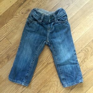 Baby GAP lined Denim Jeans Size 6-12 months